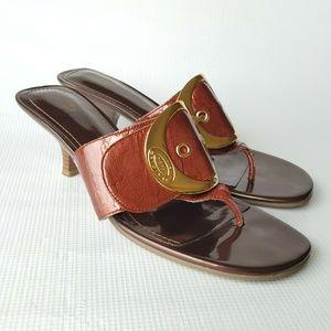Dr. Scholl's Zodiac Buckle Thong Sandals Size 9M